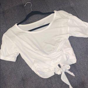 Victoria's Secret Tops - Tie wrap T-shirt white NWT XS
